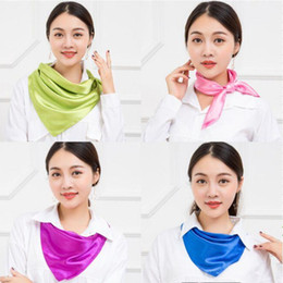 flight scarf Australia - Women Scarves 52 colors square scarf for women flight attendant women professional dress commercial performance Christmas gift