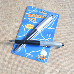 $enCountryForm.capitalKeyWord Australia - April Fools Day fancy ballpoint pens Pen Shocking Electric Shock Toy Gift Joke Prank Trick Fun prank trick joke toys Free Shipping