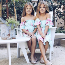 $enCountryForm.capitalKeyWord Australia - mommy and daughter matching outfits family matching outfits Mother and Daughter dresses beach flower girl dresses kids dress A5725