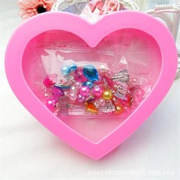 princess 12 figure Australia - 1 BOX Fancy Adjustable Gem Rings Princess Favors Kids Girls Gifts Action Figure Toy