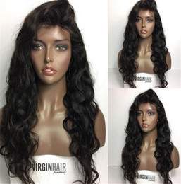 Full Wig Lace Front Bangs Australia - Loose Wave Human Hair Wigs With Side Part Bangs Unprocessed Peruvian Full Lace Wig Bleached Knots Lace Front Wigs Glueless