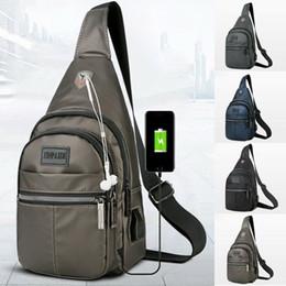 a97d1bddd6d6 Men s Shoulder Bag Sling Chest Pack Canvas USB Charging Sports Anti Theft  Travel Crossbody Handbag Outdoor Messenger Bag