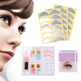 eyelash perming NZ - Pro Eyelash Lash Eyelashes Wave Curling Perming Curler Rod Glue Perm Kit Set