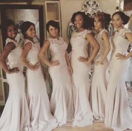 $enCountryForm.capitalKeyWord Australia - 2019 Cheap South Africa Sleeveless Mermaid Long Bridesmaid Dresses Pretty Fashion Lace Party Gowns Maid of Honor Dress Custom Made