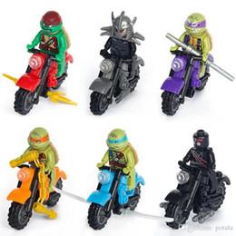 Turtles Blocks Australia - Turtle Motorcycle Building Block Hulk Puzzle Super heroes Marvel Toys Action figures spiderman Captain America deadpool X-man thanos Batman
