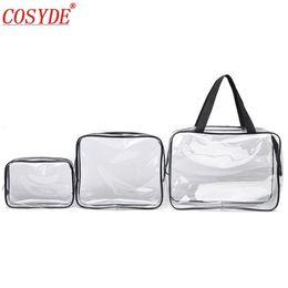 handbag making kit 2019 - Zipper PVC makeup bag transparent Travel Cosmetic Bag Women Men Make up Organizer Wash Storage Pouch Toiletry Kit Case H