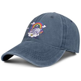 $enCountryForm.capitalKeyWord UK - Unicorn Sleeping On Galaxy With Rainbow mens Sport Denim baseball hat stylish adjustable women's fishing cap trendy snapback cap mesh hat