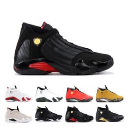$enCountryForm.capitalKeyWord Australia - Luxury 14 14s Candy Cane Black Toe Fusion Varsity Red Suede Men Basketball Shoes Last Shot Thunder Black Yellow DMP Sneakers