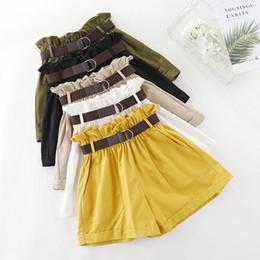 Korean fashion ladies pants online shopping - Casual Summer Shorts Women Korean Fashion Pocket Elastic High Waist Shorts Female Cotton Loose Short Pants Ladies