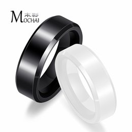 b250cb9a68 New Black And White Ceramic Ring Fashion Men And Women Trend Couple Ring  Personality Valentines Day Gift Jewelry ZK40