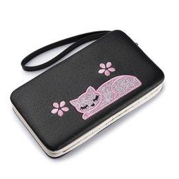 $enCountryForm.capitalKeyWord NZ - good quality Cartoon Cat Women Wallet Embroidery Pu Leather Women Wallets Brand Designed Coin Purse Female Card Holder Cute Girl Wallet