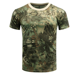 $enCountryForm.capitalKeyWord Australia - Men Breathable Hunting Camouflage T-shirt Army Combat Quick Dry Short Sleeve Camo Clothing O Neck T shirt