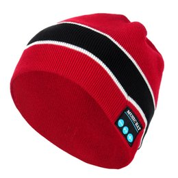fiber audio Australia - New Beanie Hat Fashion Item Embroidery Knit Beanie Hip Hop Keep Warm Bluetooth Beanie Hat Winter Audio 2 Colours Brand New