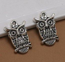 Silver Eagle Bracelet Australia - Wisdom Eagle Charm Antique Silver Animal Pendants For Handmade DIY Bracelet Necklace Fashion Jewelry Alloy Making Gifts Accessories 100PCS