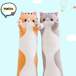 cat cushion for kids Australia - Plush Toys Animal Cat Cute Creative Long Soft Toys Office Lunch Break Nap Sleeping Pillow Cushion Stuffed Gift Doll for Kids SH190913