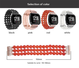 Red Smart Watches Australia - Suitable for fitbit versa smart watches Jewelry four rows of diamond decorative straps