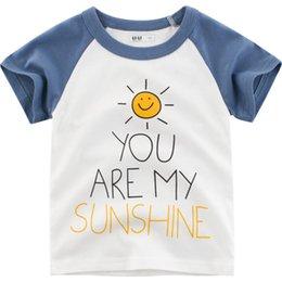 $enCountryForm.capitalKeyWord Australia - Casual T-shirt Tops Toddler Kids Cotton Short Sleeve Tee Shirts 2019 Summer New Round Neck Clothing Boys Girls Unisex T Shirts Tops