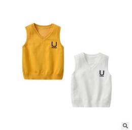 $enCountryForm.capitalKeyWord Australia - School Uniform Sweater Vest Infant Toddler Baby Boys Girls Sweater V Neck Knitted Waistcoat Vest Children Kids Cotton Back to School Clothes