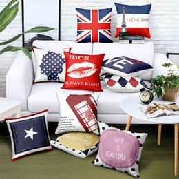 $enCountryForm.capitalKeyWord UK - Custom Throw Pillow Cover National Flag Print Logo Brand Advertising Gift Sofa Car Cushion Cover Decorativos Detachable Free Design 45x45 cm