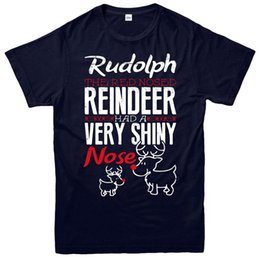 Reindeer Nose Australia - Rudolph Christmas T-Shirt, Red Nose Reindeer Xmas Festive Adult & Kids Tee Top
