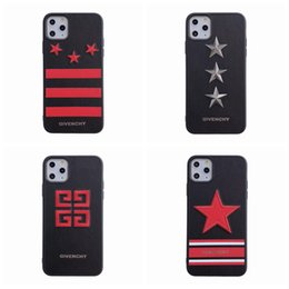 Star max online shopping - Embroidery star designer phone case for iphone pro max Xr Xs X plus plus plus hard back cover brand design shell cover A076
