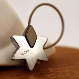 $enCountryForm.capitalKeyWord Australia - Milesi - New Brand Superstar Star Keychain Key Chain Rings For Women Men Novelty Innovative Trinket Souvenir PendantSH190724
