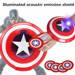 Captain ameriCa games online shopping - Marvel Avengers Captain America LED Magnetic Flying Shield Toys for Children Boys Outdoor Boys Kid Games Gymnastics Gifts