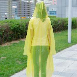 Viajar moda Must el impermeable de plástico PE camping poncho ropa impermeable desechable Senderismo bolsillo capa de lluvia la mujer del hombre 1 9fs E19 en venta