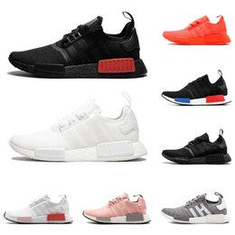 efb27bf2d99c4 2019 NMD R1 running shoes for men women 3m reflective triple black white  SOLAR RED oreo OG mens trainers breathable sports sneakers runner