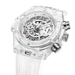 $enCountryForm.capitalKeyWord Australia - ONOLA Fashion Sports Mens Quartz Watches Unique Cool Transparent Silicone Wrist Watch Men Women Luminous Hands Clock Calendar