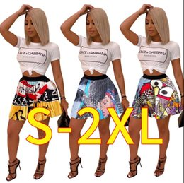 $enCountryForm.capitalKeyWord NZ - 2019 women new summer vintage cartoon letter print high waist above knee mini pleated skirts retro fashion skirt outfit