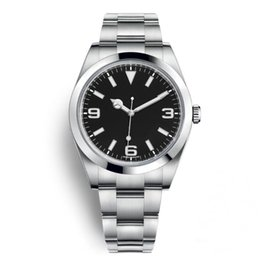 Marca casual online shopping - Top New Watch Explorer Black Dial Stainless Steel Automatic Movement Watch Casual Date Reloj De Lujo montre Relojes De Marca Wristwatch