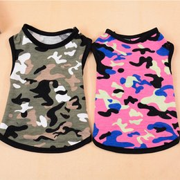 $enCountryForm.capitalKeyWord Australia - New Camouflage Multicolored Spring and Summer Dog vest Pet Clothing Pure Cotton Breathable Pet Supplies Support Substitution