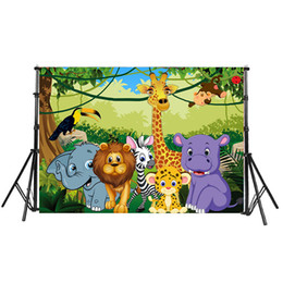 Chinese  Jungle Theme Photography Backdrop Custom Newborn Baby Shower Children Birthday Party Photo Background Lion King Photo Booth backdrop manufacturers