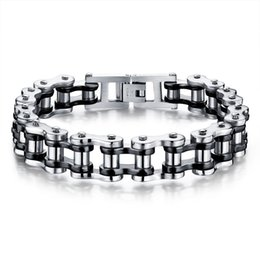 $enCountryForm.capitalKeyWord Australia - Pop high quality cross-border hot sale Titanium steel men's bracelet Rock personality locomotive Bicycle chain bracelet birthday gift