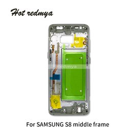 $enCountryForm.capitalKeyWord NZ - 1Pcs Middle Frame For Samsung Galaxy S8 G950 G950F Mid Bezel Metal Frame Housing Chassis With Parts Replacement + Side button