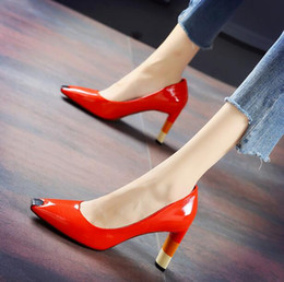 Best Red Party Dresses Australia - Fashion women Dress shoes High-heeled shoes Sequined Square Toes Mixed Color Shallow mouth Best Selling party wedding shoes