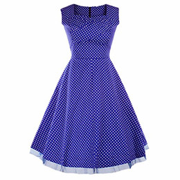 Wholesale 1950s dresses resale online – Samtree Women s s Hepburn Style Vintage Floral Garden Cocktail Party Swing Dress