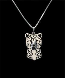 Discount wholesale christmas gift ideas - DANGGAO fashion Handmade Cheetah pendant Necklace women chain choker necklace jewelry Pet Lovers Christmas birthday Gift