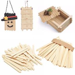 $enCountryForm.capitalKeyWord Australia - 50pcs lot DIY Hand Crafts Popsicle Stick Toys Kids DIY Wooden Puzzle Toys Ice Cream Lolly Cake Tools Children Puzzle Making Toy 50pcs lot