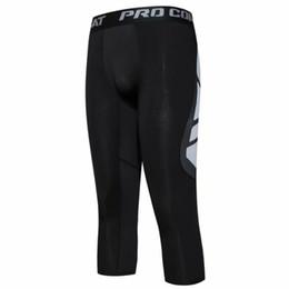 Tight Plus Sized Leggings Australia - Basketball Football Training Trousers Compression Pants Running Tights Men Gym Leggings Men Bodybuilding Jogging Pants Plus Size