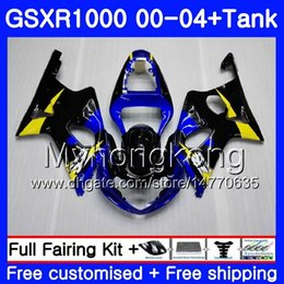 Pink fairings online shopping - Tank For SUZUKI GSX R1000 GSXR1000 Blue yellow HM GSXR K2 GSX R1000 K3 GSXR Fairing