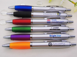 Logo Promotional Gift NZ - Free logo ball pens 6 color advertising promotional gift with customized company logo school office ball pens wholesale