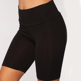 $enCountryForm.capitalKeyWord Australia - Autumn New Women Long Tight Shorts High Waist Fitness Black Red Gray Slim Korean Sport Shorts