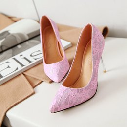 $enCountryForm.capitalKeyWord NZ - Hot Sale-Sexy Stiletto Heel Sequins Fabric Pointed Toe Women Pumps 100mm Fashion High Heels Shoes for Women Office Dress Shoes Large Size