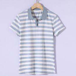 T Shirt Woman Korea NZ - Women T-Shirt Summer Style Cat Striped Print Linen Female Loose New Fashion Casual New Loose Korea 2018 Tops&Tees T5190605