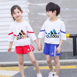 Korean Kids Suits Australia - Big Boys Kids Clothing Children 2018 Spring And Autumn New Korean Girl designer luxury Suit In Child Motion Leisure Time Twinset Set 0606