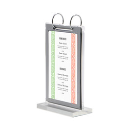 Discount acrylic calendar display Acrylic Flip Page Cover Double-sided Loose-leaf Poster Frame Display Stand Calendar Menu Stand Desk Sign Price Tag Displ