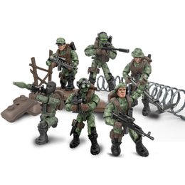 Special Figure Australia - Newest Military Army Soldier Building Block Assemble Brick Jungle Commandos Seal Special Mini Action Figure Toy for Boy