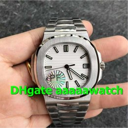 Men White Stainless Watch NZ - P Top Luxury Watch 5711 1A-011 Watch Stainless Steel Case White Textured Dial Stainless Steel Bracelet 9015 Automatic 324 Movement Men Watch